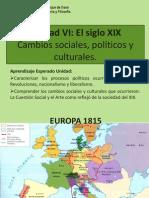 Unidad VI Siglo XIX