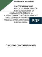 La Contaminacion Ambiental Grupo 1