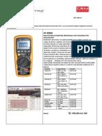 Multimetro y Detecto de Fugas de Gas Srtafanny