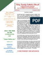 hfc november 23 2014 bulletin 1