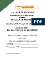 Legislación en salud2014 Respondido