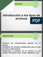 Tipo de archivos introduccion