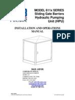 611X Sliding Gate HPU Manual