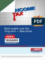 Hdfc TaxSaver Leaflet Aug 2014