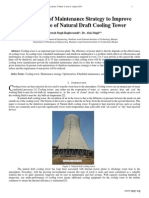 Development of Maintenance Strategy to Improve  Performance of Natural Draft Cooling Tower