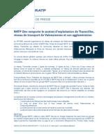 Cp Ratp Dev Remporte Le Reseau Transvilles 18 Novembre 2014
