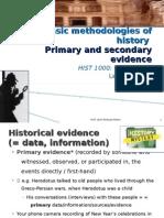 Basic Methodologies of History