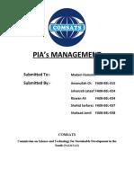 PIA's Management