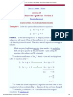 Cramer's Rule_ the Method of Determinants