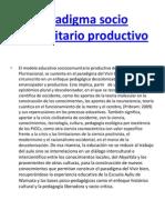 Paradigma Socio Comunitario Productivo