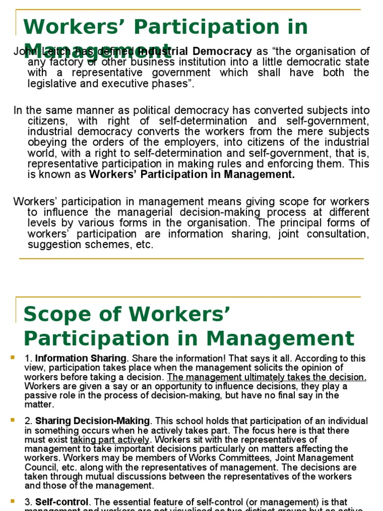representative participation