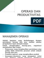 Bab 1 Operasi Dan Produktivitas