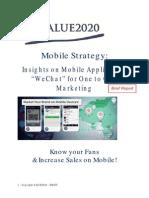 Wechat Marketing Strategy Brief Report