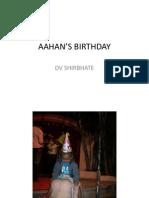 Aahan's Birthday