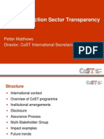 CoST - Supporting Infrastructure Development and Good Governance