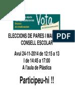Cartell Votacions CE 2014