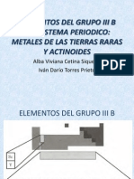Elementos Del Grupo III b