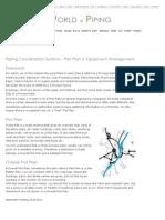 Piping Coordination Systems - Plot Plan & Equipment Arrangement