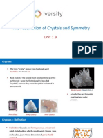 Defintion of Crystals and Anisotropy