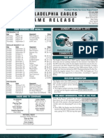 Eagles vs. Dallas NFL Game Notes