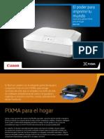 Instrucciones PIXMA 2012 en español