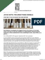 Joyce Hatto - The Great Piano Swindle