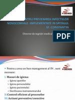 Spitalul Sfconstantin Brasov Romania Masuri Pentru Prevenirea Infectiilor Nosocomiale Implementate