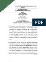 Settlement order in respect of V.K. Jain (HUF) and Divya Jain in the matter of Advik Laboratories Ltd