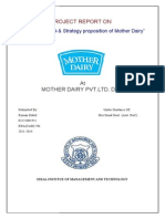 Mother Dairy Summer Training Report
