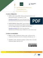 Lecturas obligatorias y recomendadas Módulo 1 | MOOC Comunicación y Aprendizaje Móvil