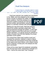 FTA-Failure Treee Analysys