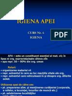 Curs 5 - Igiena Apei