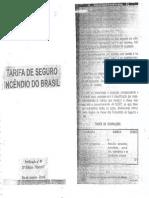TSIB - Tarifa de Seguro Incêndio do Brasil