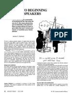 Advice to Beginning Physics Speakers - James C. Garland
