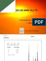Ejercicios de RMN 1H y 13C