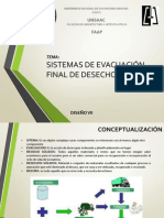 Sistemas de Evacuación Final de Desechos Solidos