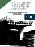 SLS Aspects of Continuous Bridges Using Precast Beams