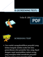 Uji Tapis (Screening Test)