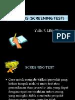 Uji Tapis (Screening Test)