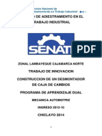 CONSTRUCCION DE UN DESMONTADOR DE CAJA DE CAMBIOS