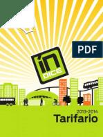 Tarifario Indice Area Metro