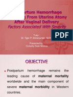 Postpartum Hemorrhage Resulting From Uterine Atony After Vaginal