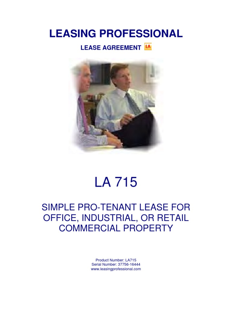 715 Simple Pro Tenant Lease For Office Industrial Or Retail
