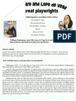 Shakespeare and Lope Worksheet