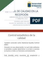U3 - Control de Calidad en La Recepcion