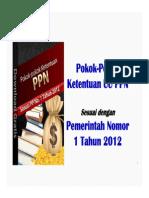 33. Pokok Pokok Ketentuan UU PPN Sesuai PP No.1 Tahun 2012 eBook