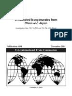 USITC Chlorinated Isocyanurates Final