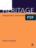 Heritage, Management, Interpretation, Identity