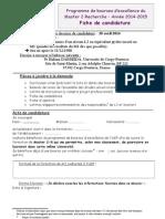 Fiche Candidature2014