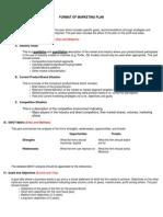 Format of a Marketing Plan